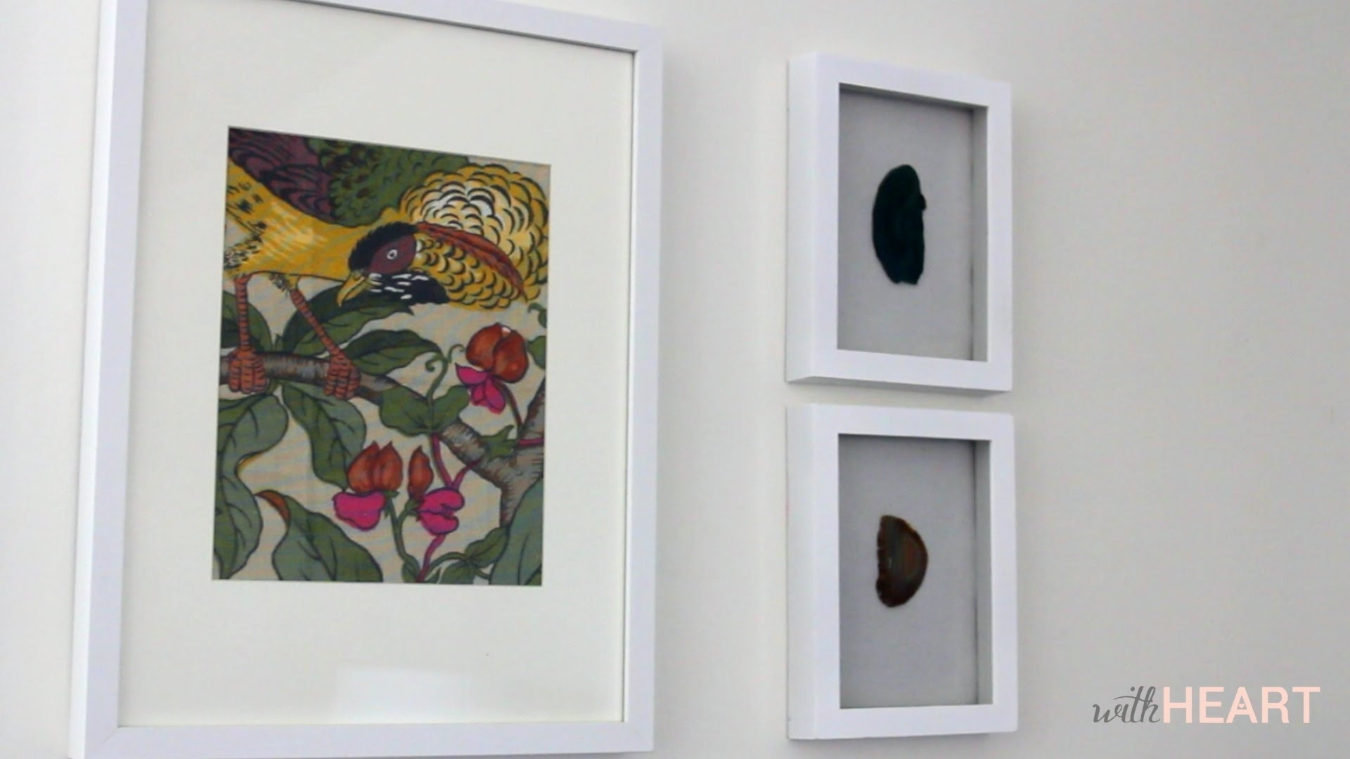 Easy Art: Framed Fabric   Withheart – Youtube In Most Recent Fabric Wall Art Frames (View 13 of 15)