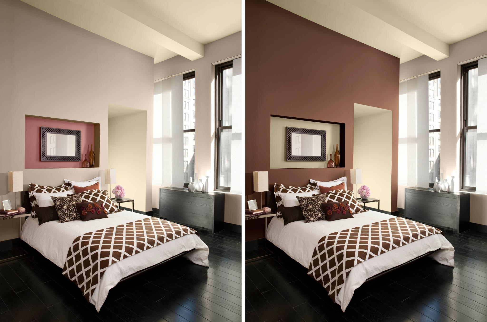 Easy Paint Designs For Walls Accent Wall Colors Ideas Wall Paint With Most Recently Released Brown Wall Accents (View 5 of 15)