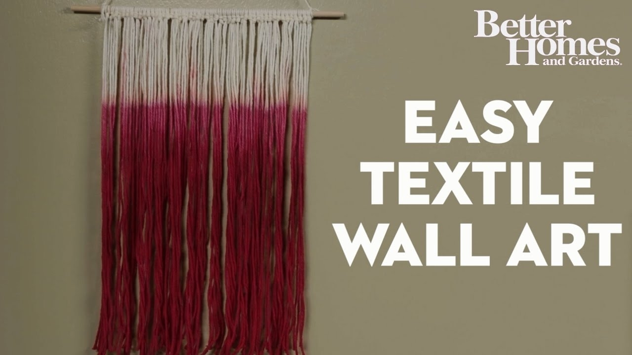 Easy Textile Wall Art – Youtube With Regard To Latest Textile Wall Art (View 5 of 15)