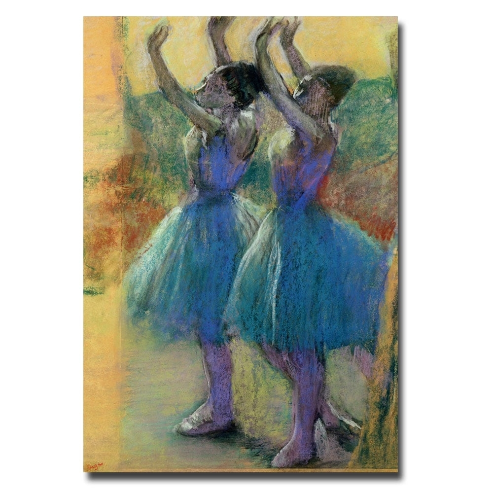 Edgar Degas 'two Blue Dancers' Canvas Wall Art – Free Shipping With 2018 Dance Canvas Wall Art (View 15 of 15)