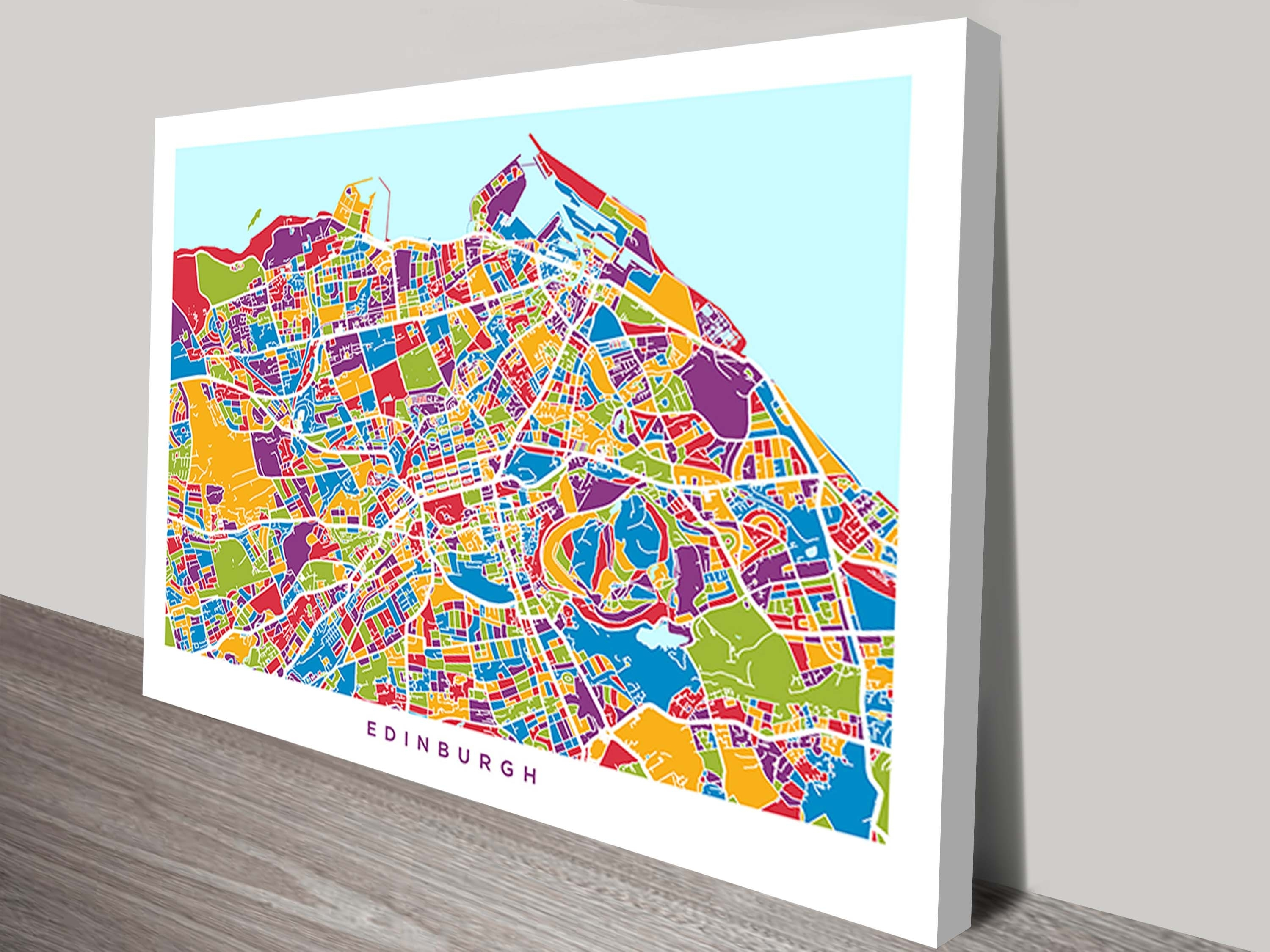 Edinburgh, Scotland Street Map Canvas Artmichael Tompsett Intended For Most Recent Edinburgh Canvas Prints Wall Art (View 11 of 15)