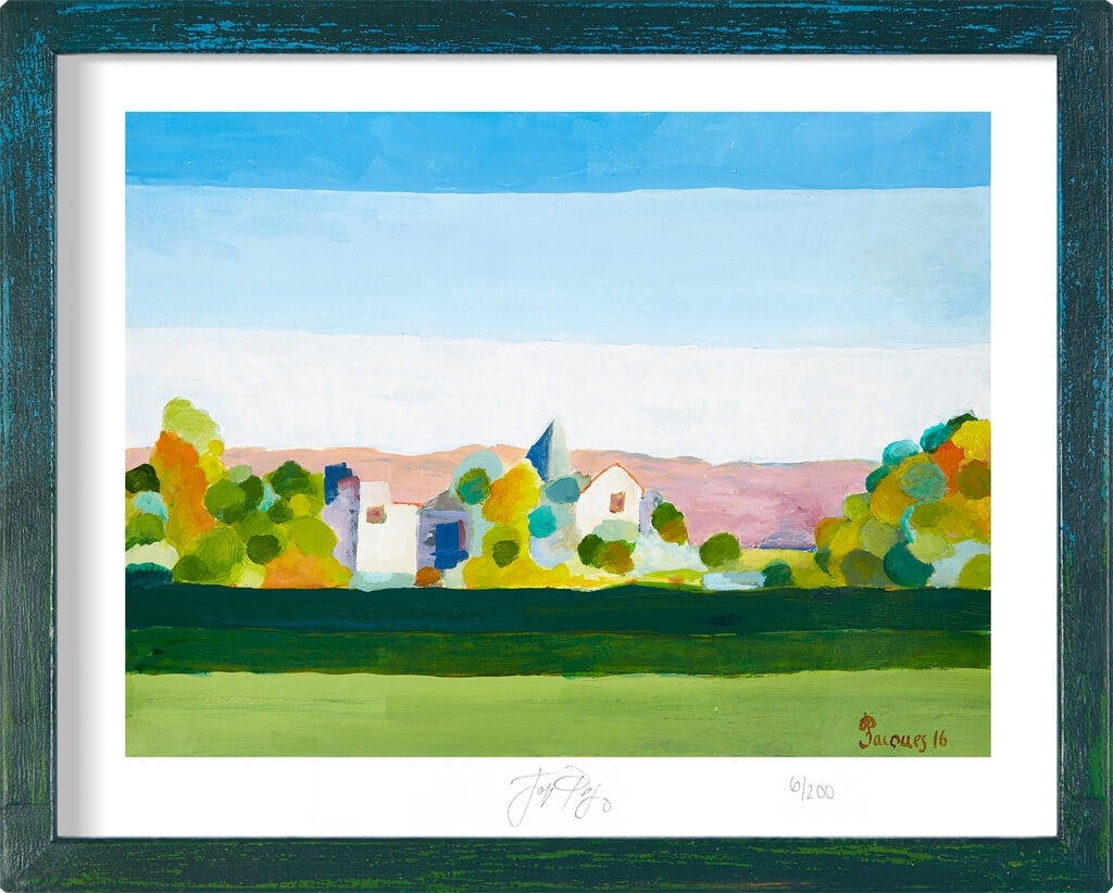 "Edition Print Of Jacques Pepin's ""Serenity Landscape"" Provence Regarding 2018 Framed Fine Art Prints (View 8 of 15)"