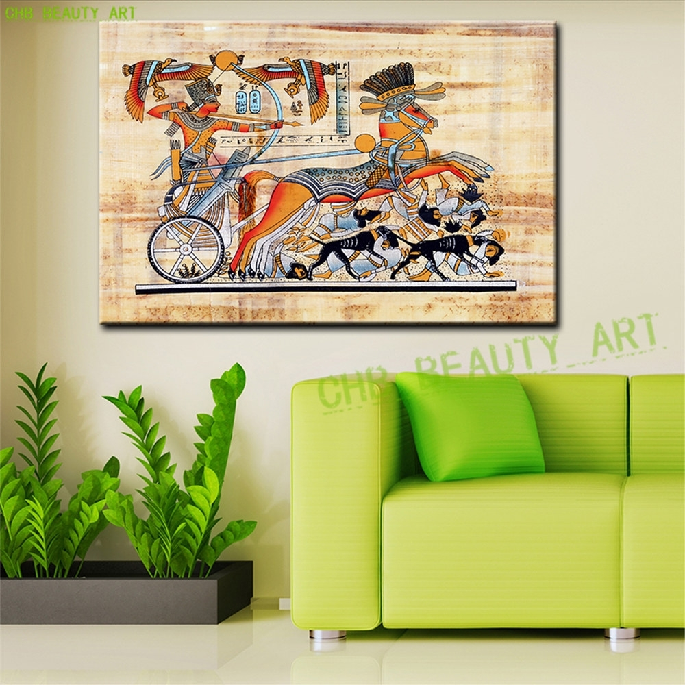 Egypt Pharaoh Canvas Art Modern Abstract Oil Painting Wall Within Most Up To Date Egyptian Canvas Wall Art (View 3 of 15)