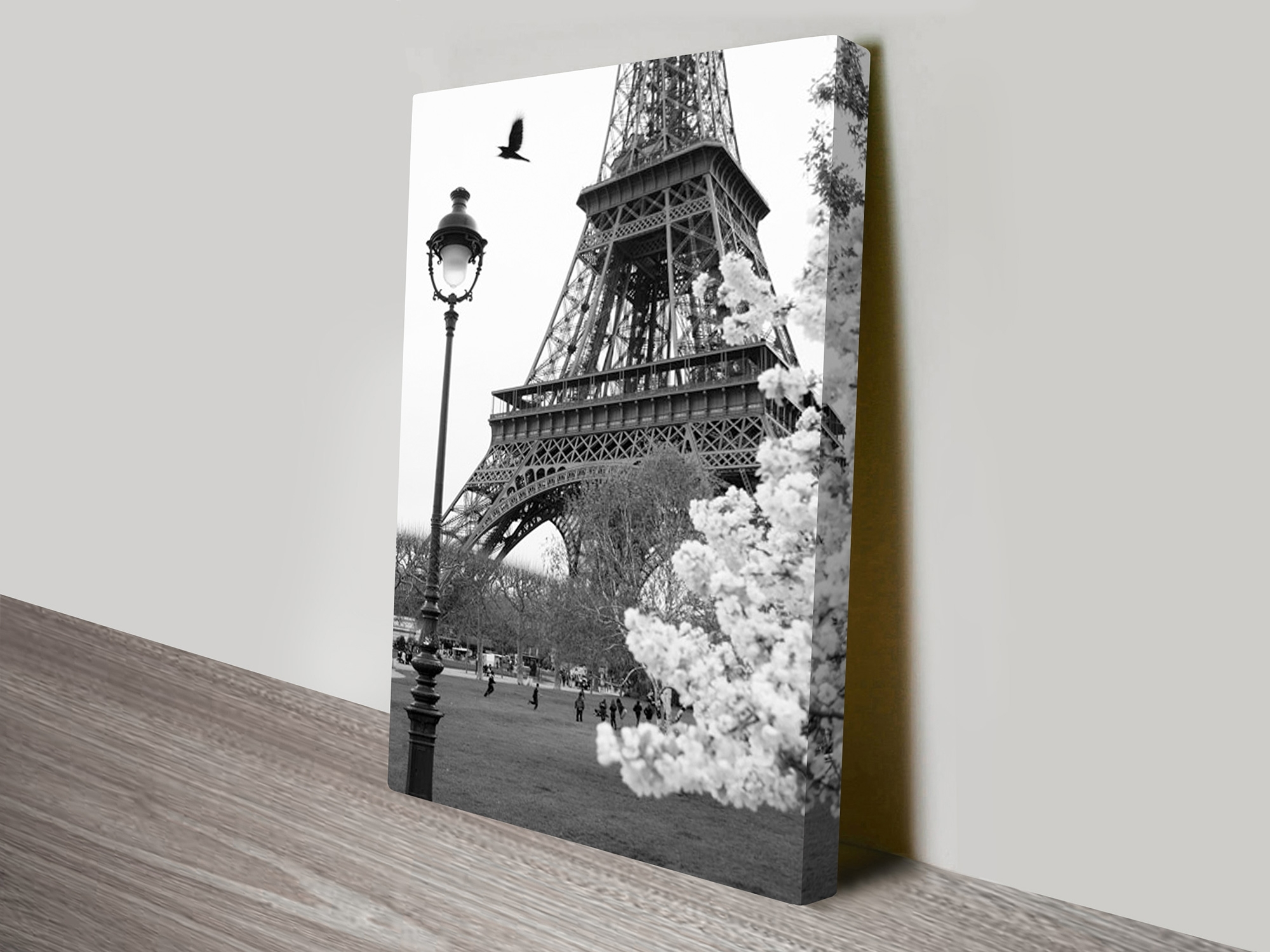 Eiffel Tower Portrait Canvas Artwork Throughout Most Current Eiffel Tower Canvas Wall Art (View 8 of 15)