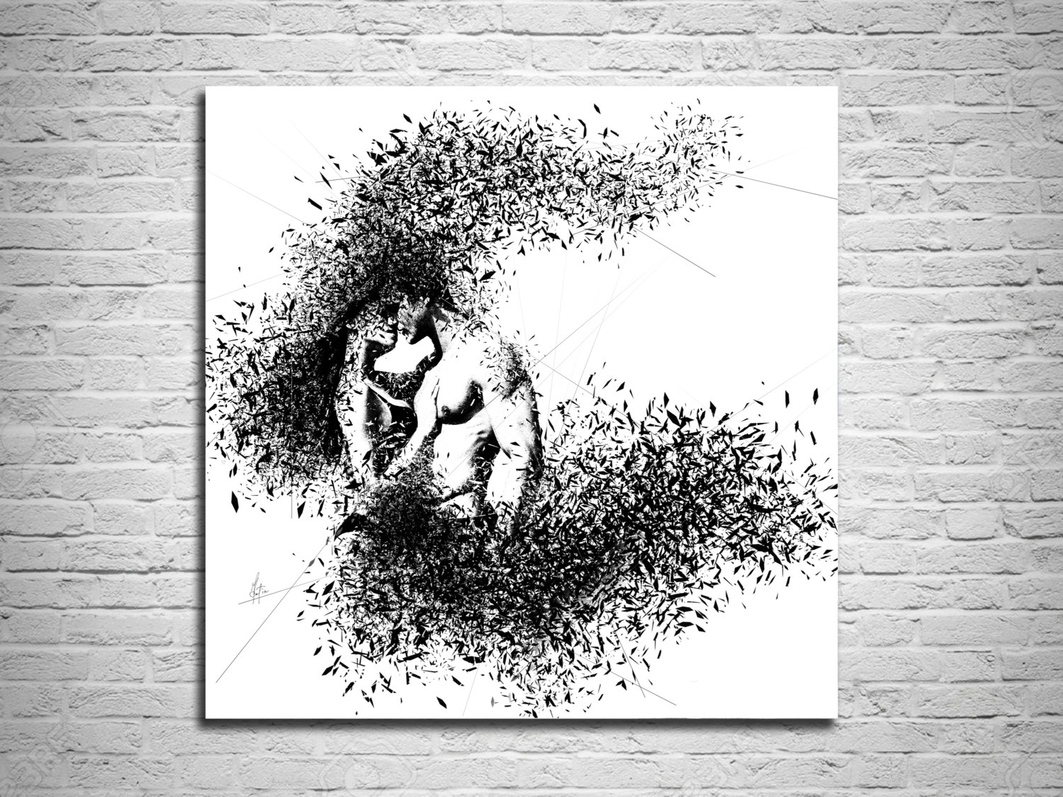 Elegant Minimalist Abstract Couple Art Canvas Print, Modern Sexy For Most Popular Masters Canvas Wall Art (View 9 of 15)