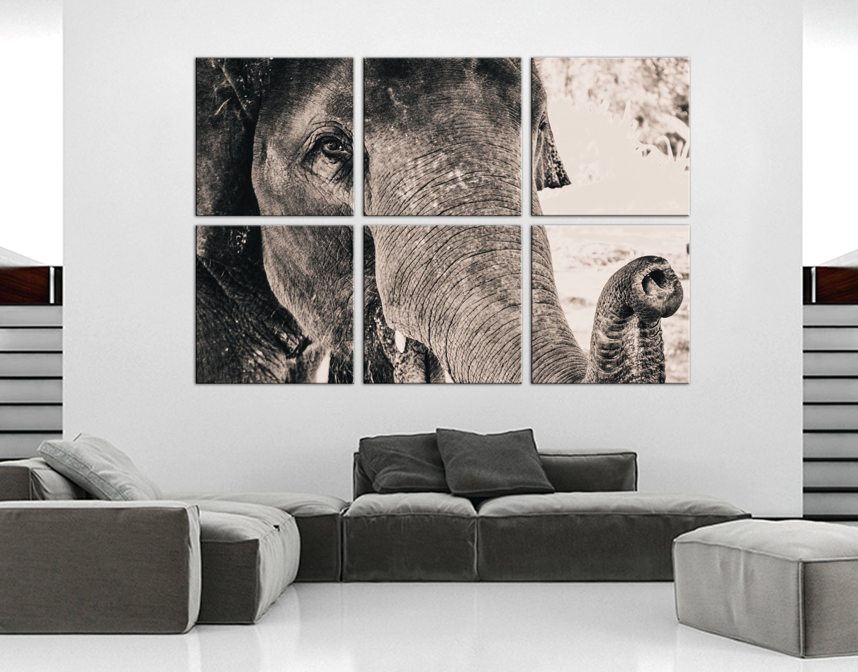Elephant Wall Decor Canvas Elephant Wall Art Canvas Art Home Decor With Regard To Newest Queensland Canvas Wall Art (Gallery 3 of 15)