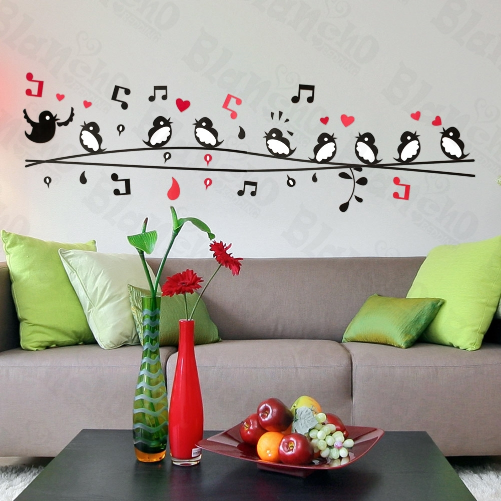 Entrancing 40+ Bird Wall Decor Design Decoration Of 3D Bird Wall In Newest Fabric Bird Wall Art (Gallery 6 of 15)