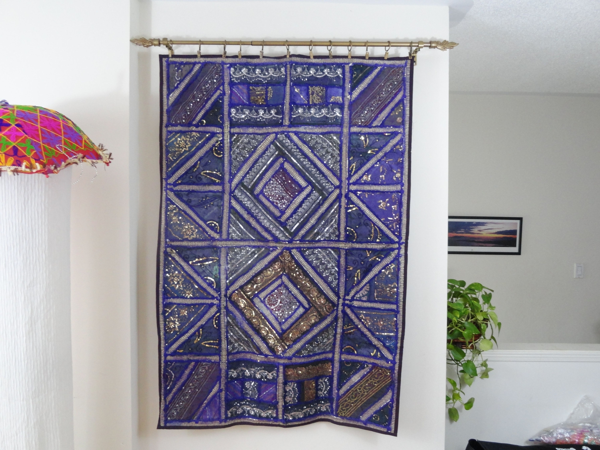 Ethnic Gifts For The Home Fabric Wall Tapestry. Wall Hanging With Regard To 2017 Fabric Wall Hangings Art (Gallery 12 of 15)