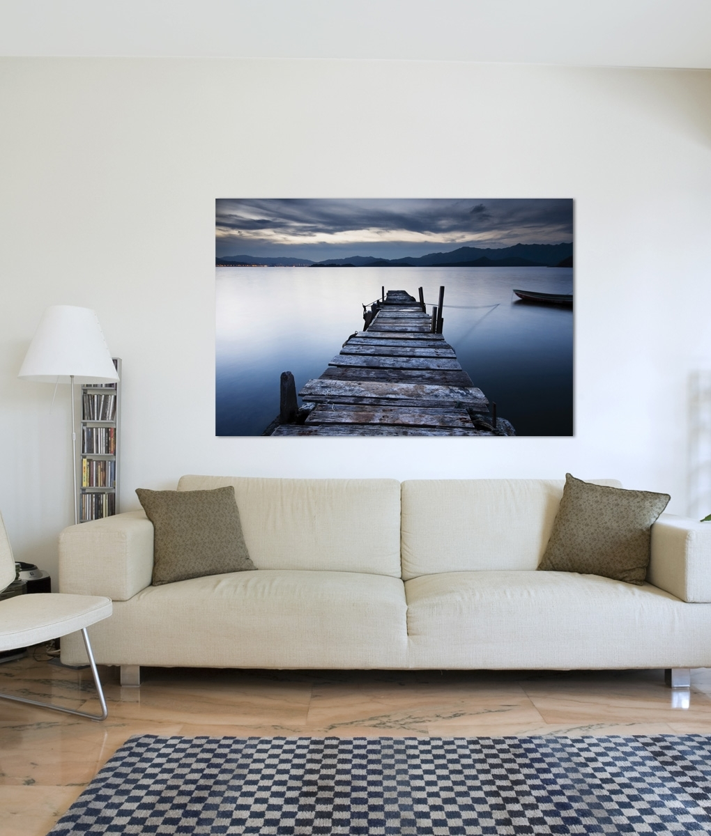 Evening Blue Jetty | Framingland For Most Recent Jetty Canvas Wall Art (View 9 of 15)