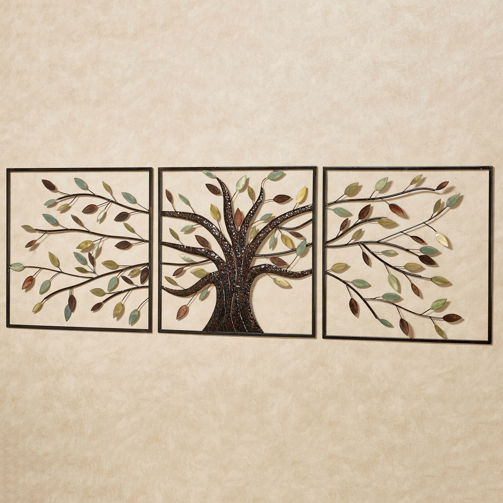 Ever Changing Brown Tree Metal Wall Art Set Intended For Most Current Canvas Wall Art Of Trees (View 4 of 15)