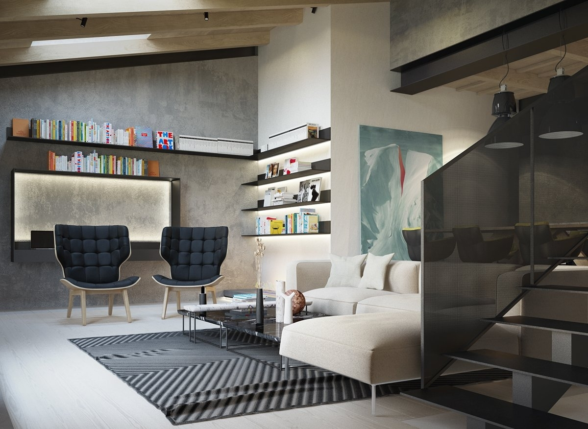 Exposed Concrete Walls Ideas & Inspiration Inside Most Recently Released Basement Wall Accents (View 9 of 15)