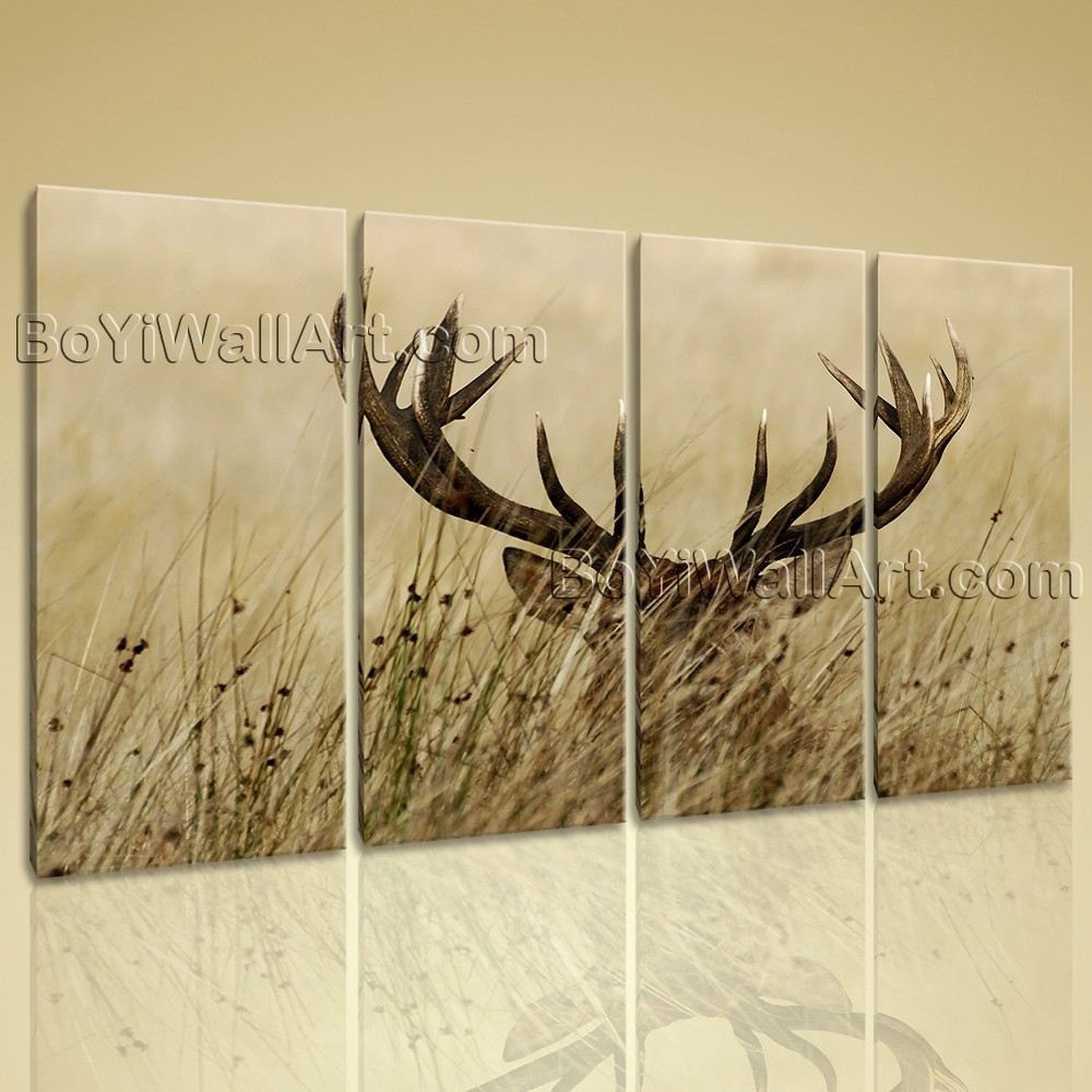 15 Ideas of Deer Canvas Wall Art