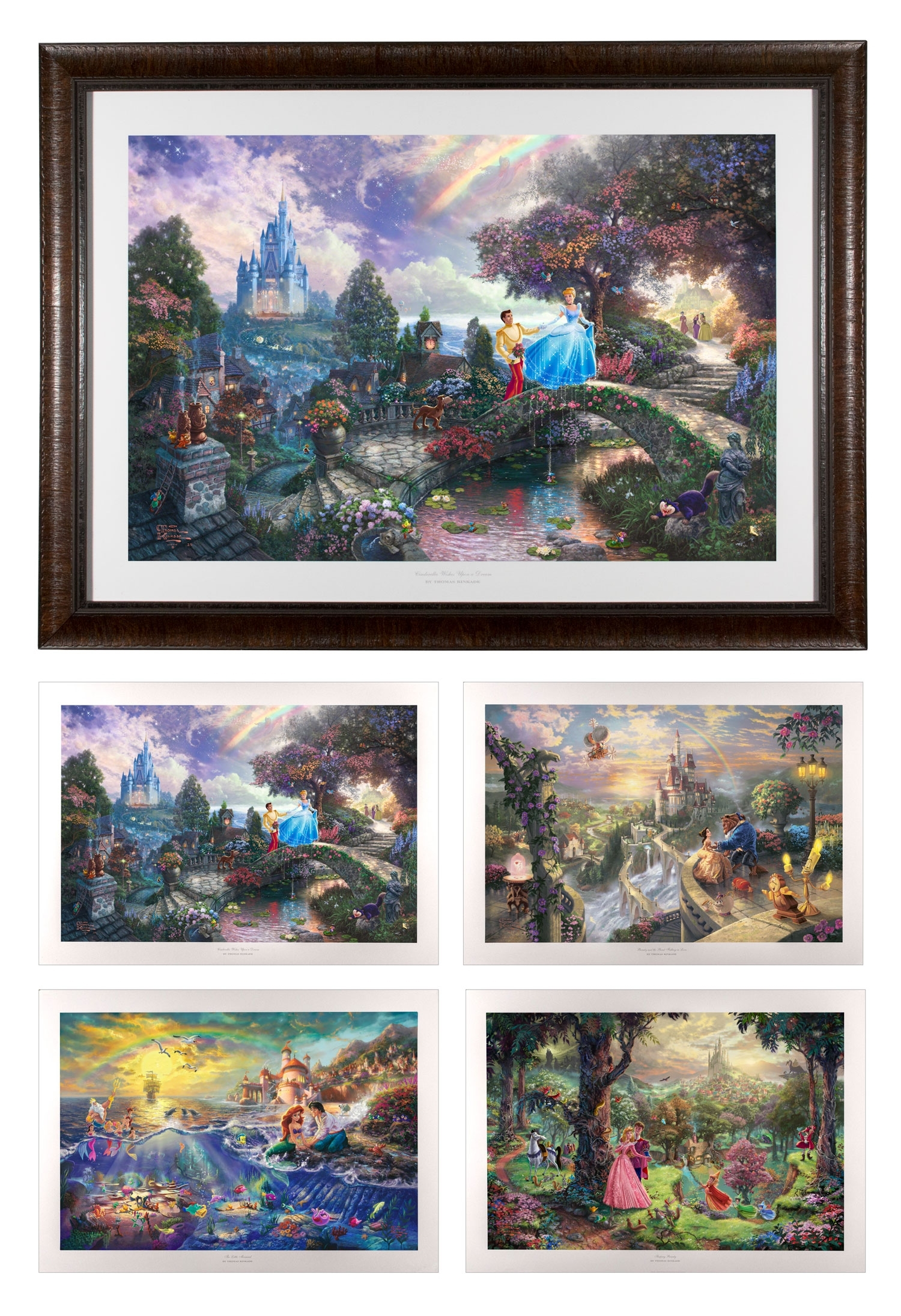Ez Frame With Four Disney Images – 26? X 35? Framed Prints (rustic Intended For Most Recently Released Disney Framed Art Prints (View 6 of 15)