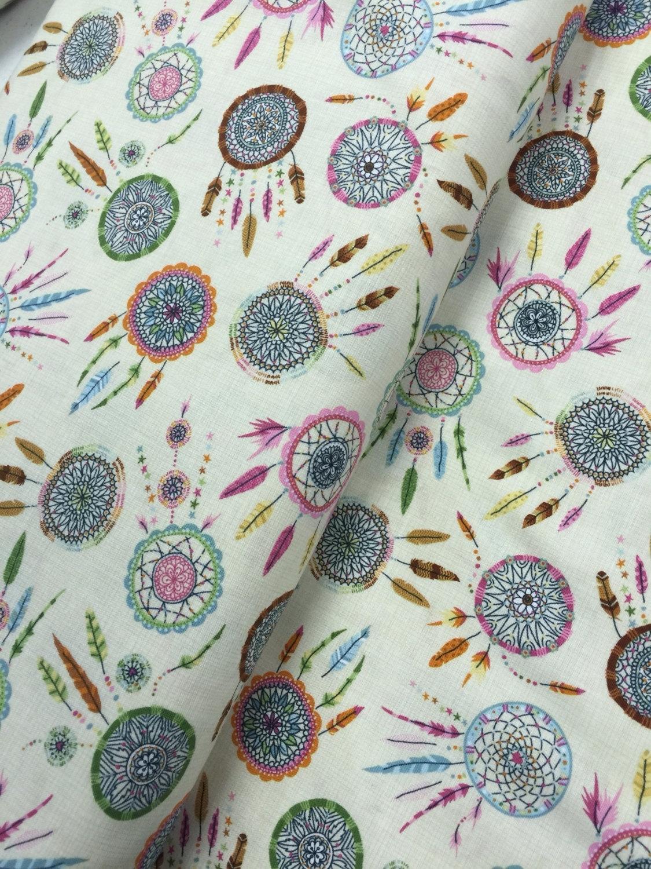Fabric Art Dream Catcher Fabric Feathers Stars Spirit Fiber for 2018 Dreamcatcher Fabric Wall Art