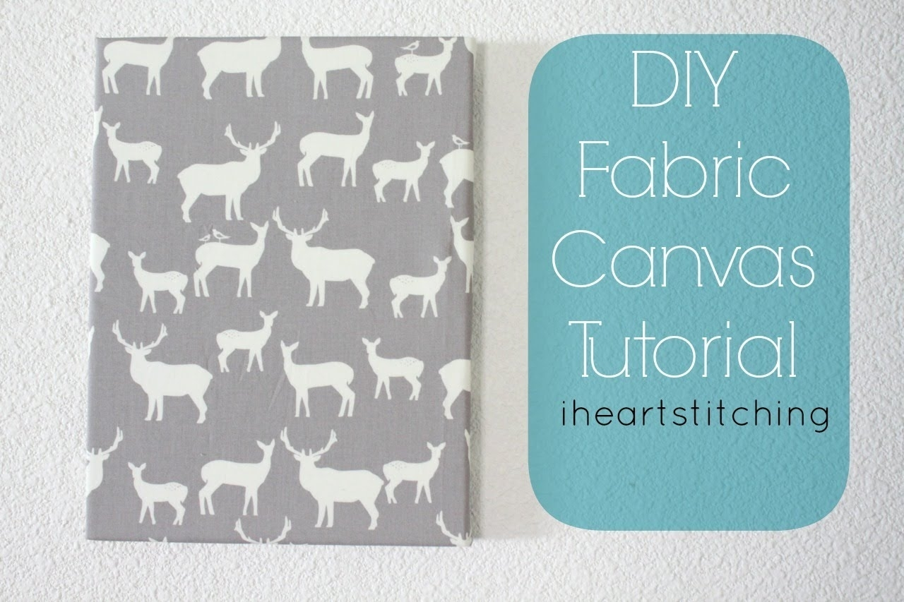 Fabric Canvas Tutorial!! Diy Nursery Craft Series W/ Project pertaining to 2017 Childrens Fabric Wall Art