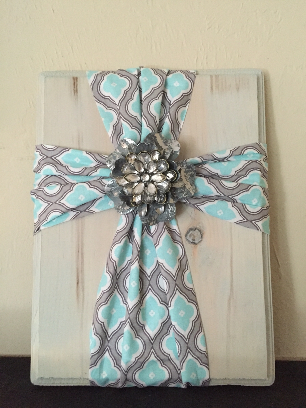 Fabric Cross On Wood. Super Simple And Easy To Make. Fabric Is With Regard To Best And Newest Diy Fabric Cross Wall Art (Gallery 2 of 15)