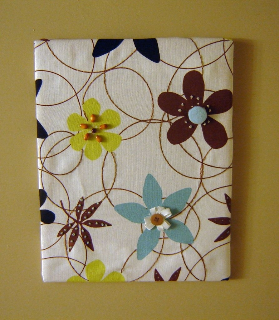 Fabric Panel Wall Art With Embellishments: 8 Steps (With Pictures) Throughout Most Current Fabric Panel Wall Art With Embellishments (View 4 of 15)