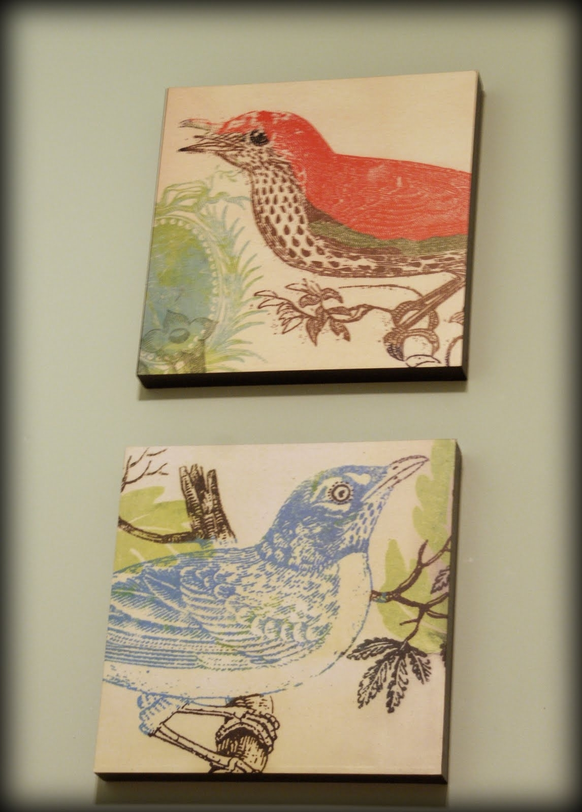 Fabric Wall Art Diy; My Retro Kitchen With Recent Fabric Bird Wall Art (View 7 of 15)