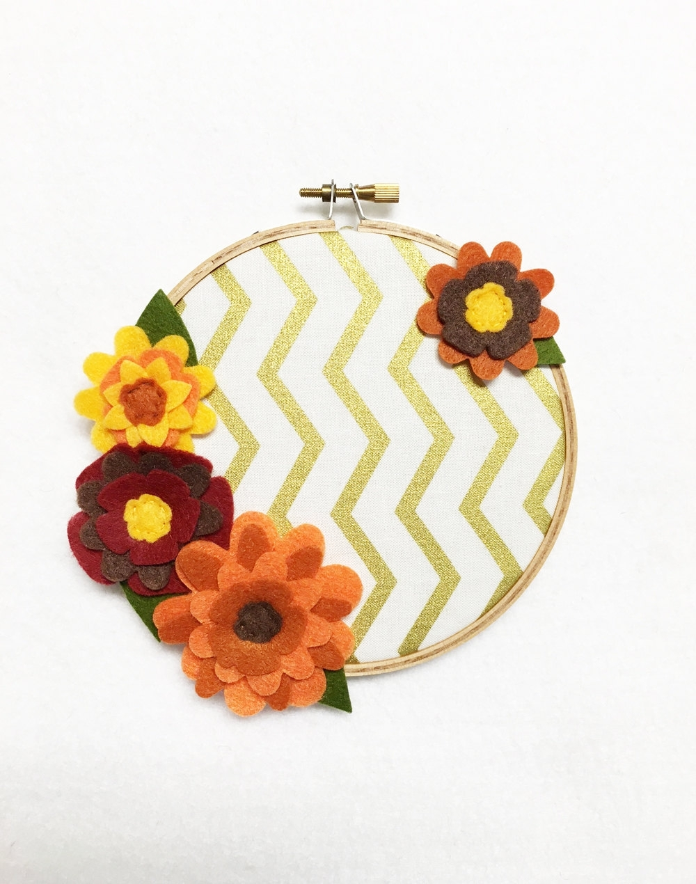Fabric Wall Art, Embroidery Hoop Art, Regal Autumn, Fall pertaining to Best and Newest Fabric Hoop Wall Art