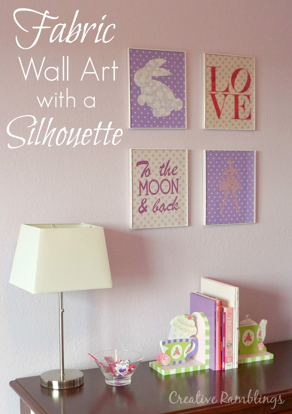 Fabric Wall Art For A Little Girl's Room – Creative Ramblings Intended For 2017 Custom Fabric Wall Art (View 6 of 15)