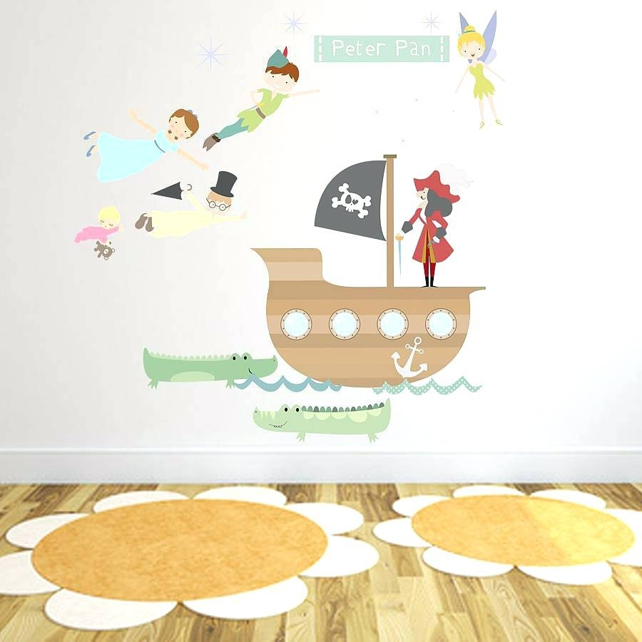 Fabric Wall Decal Peter Pan Fabric Wall Stickerspeter Pan Throughout Most Recent Fabric Wall Art Stickers (View 6 of 15)