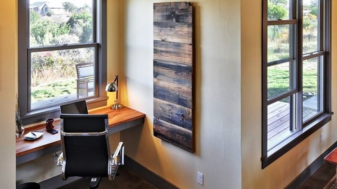 Fabulous Diy Wooden Pallet Wall Art Ideas – Youtube Pertaining To Most Recently Released Wall Accents With Pallets (Gallery 3 of 15)