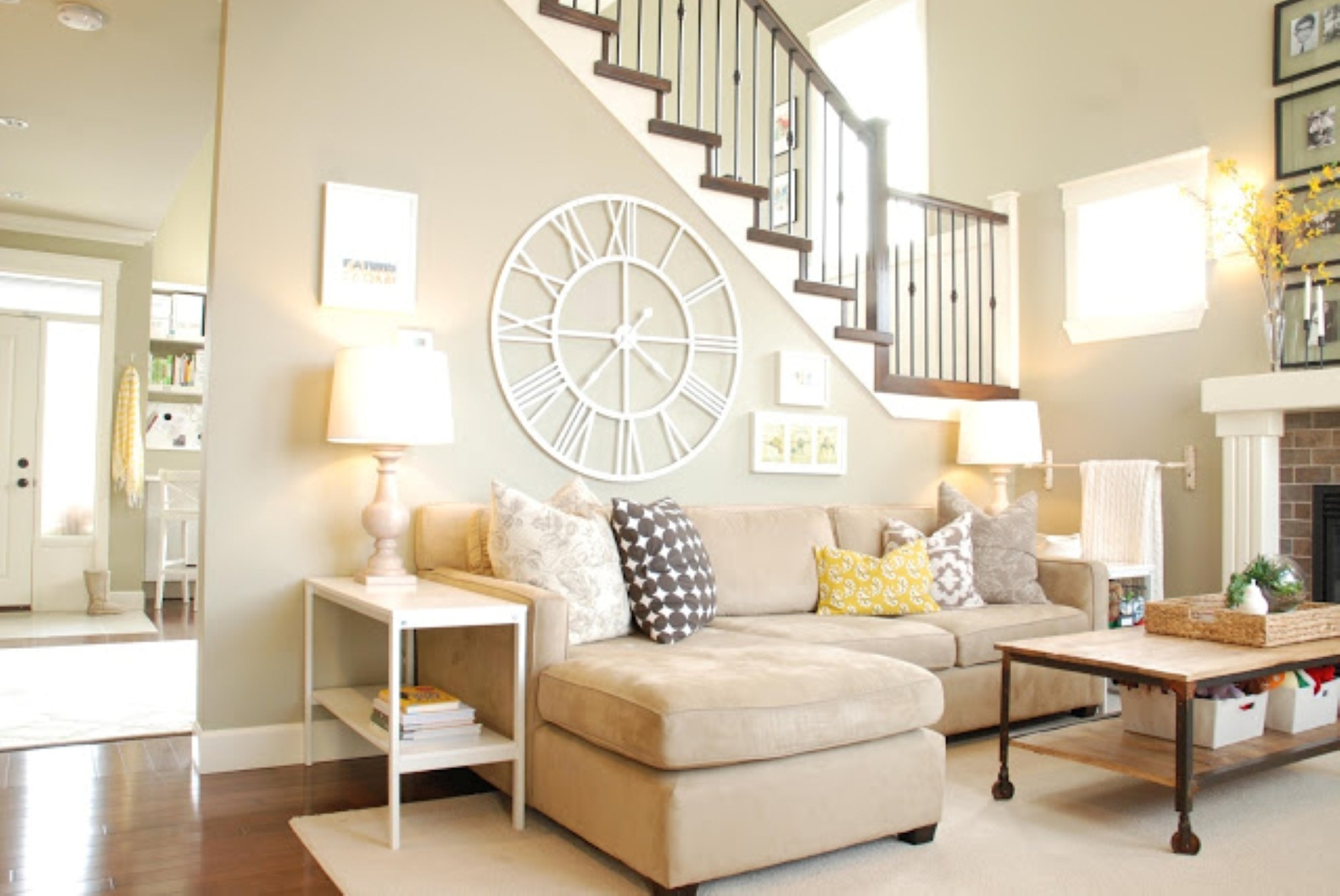 Fabulous White Fabric Sectional Sofa Plus Colorful Cushions And Pertaining To Most Recent Creative Fabric Wall Art (View 9 of 15)