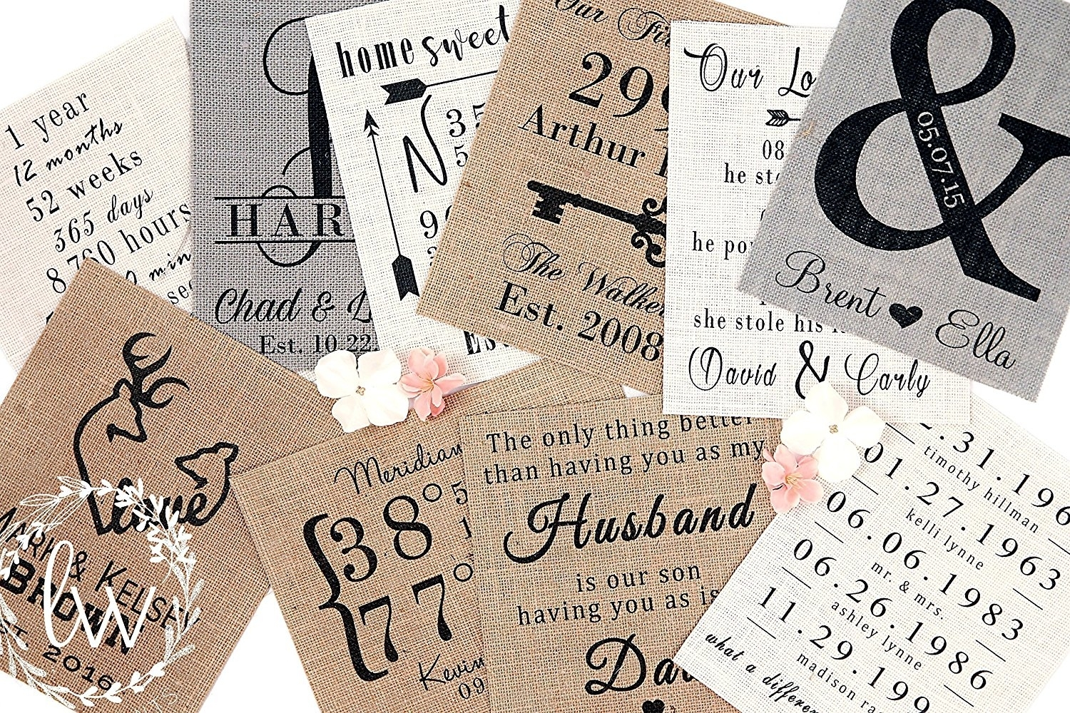Families Are Like Fudge Burlap Fabric Art Print / Wall Decor In Most Recently Released Burlap Fabric Wall Art (View 13 of 15)