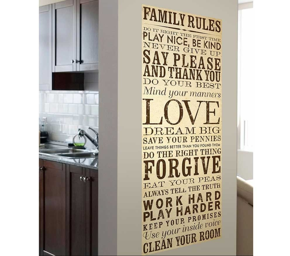Family Rules Canvas Wall Art Ideas | Home Interior & Exterior For Best And Newest Canvas Wall Art Family Rules (View 13 of 15)
