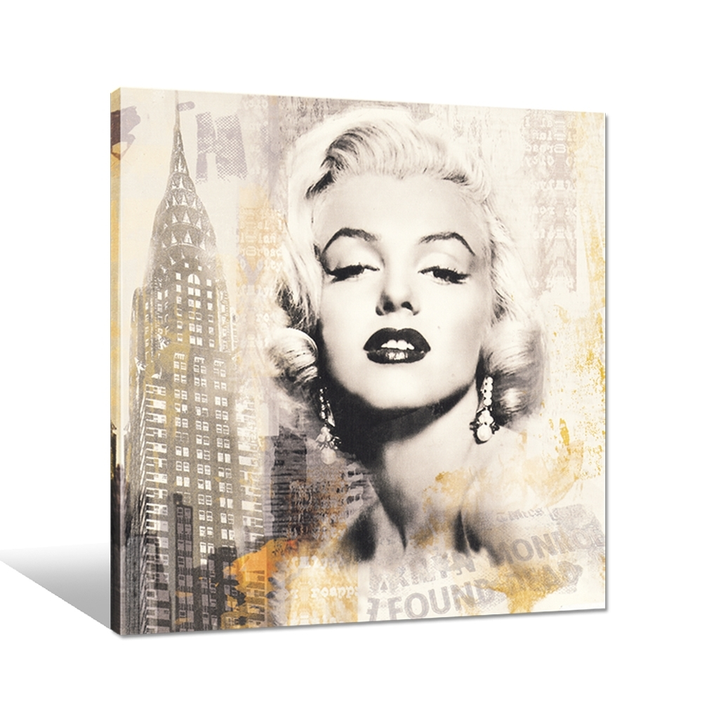 Famous Marilyn Monroe Canvas Pop Art Gallery Wrap Giclee Printing Regarding Latest Famous Art Framed Prints (View 7 of 15)