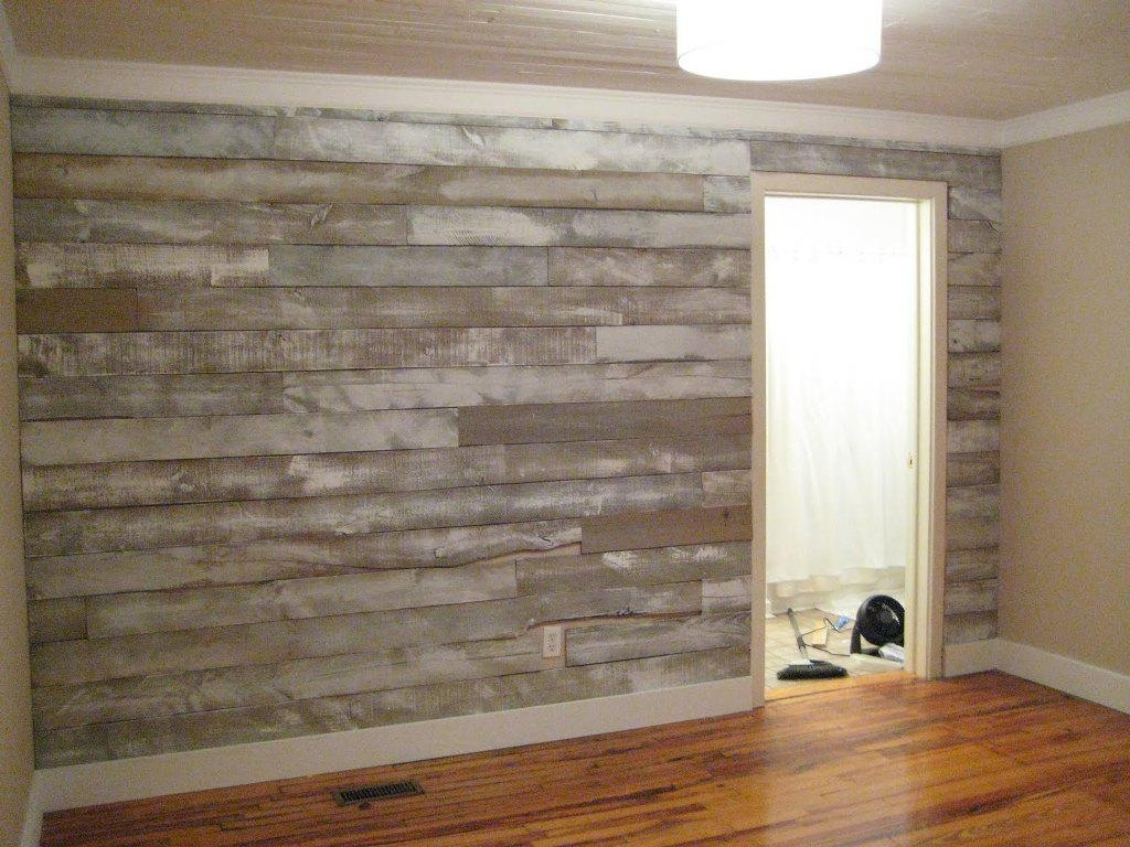 Faux Barn Wood Paneling For Walls | All Modern Home Designs : Wall For Most Up To Date Wood Paneling Wall Accents (View 7 of 15)