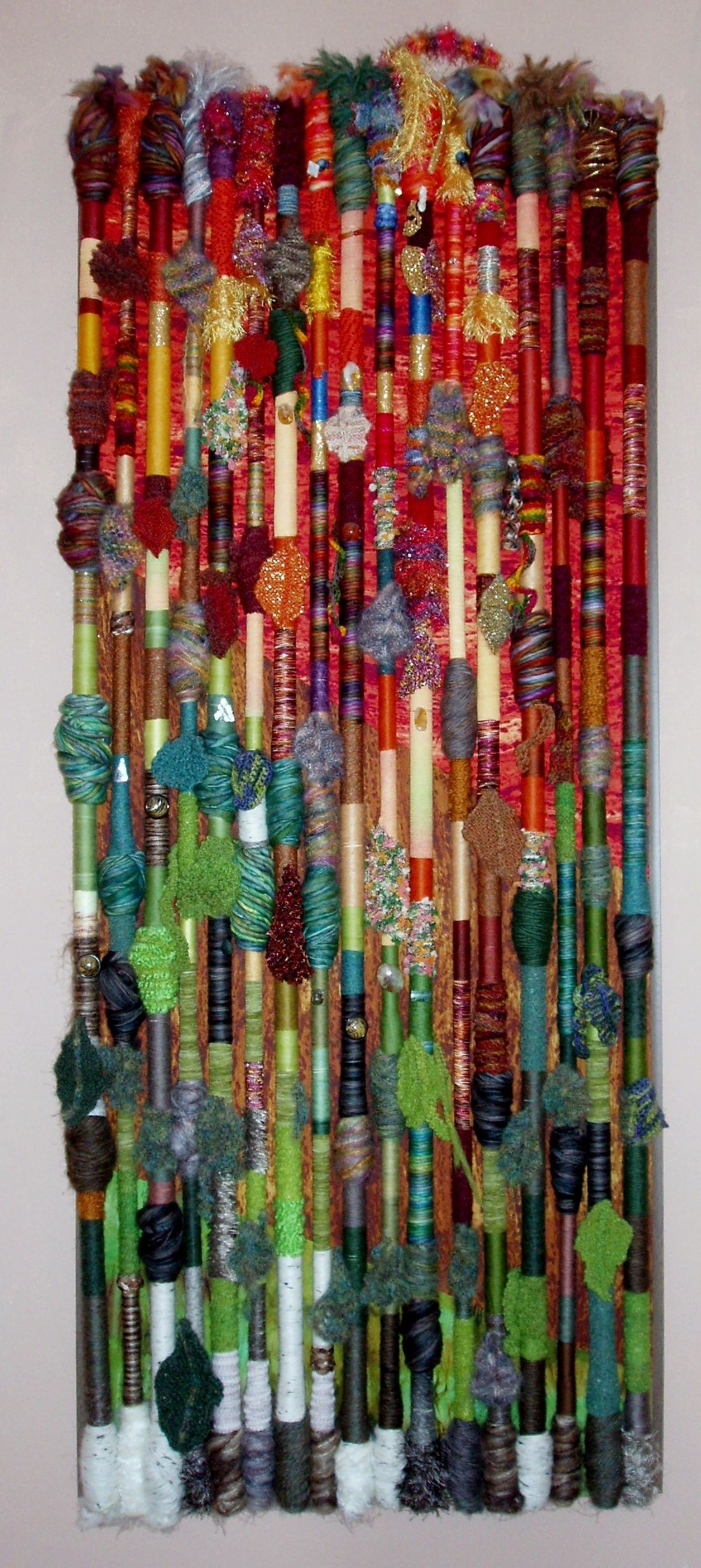 Fiber Art Wall Hanging - Fall In The Northland. Madepolly within 2017 Fabric Art Wall Hangings