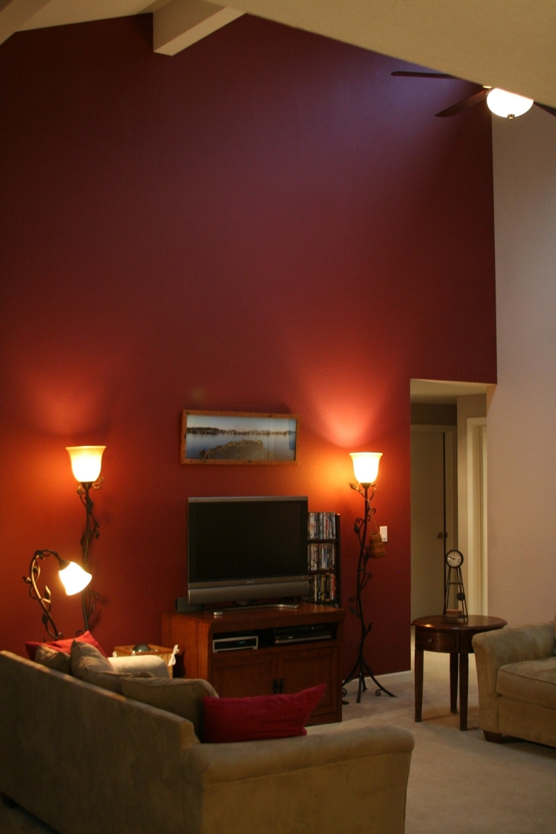 Figuring Out If A Burgundy Accent Wall On Cathedral Ceiling Works Throughout Best And Newest Maroon Wall Accents (View 3 of 15)