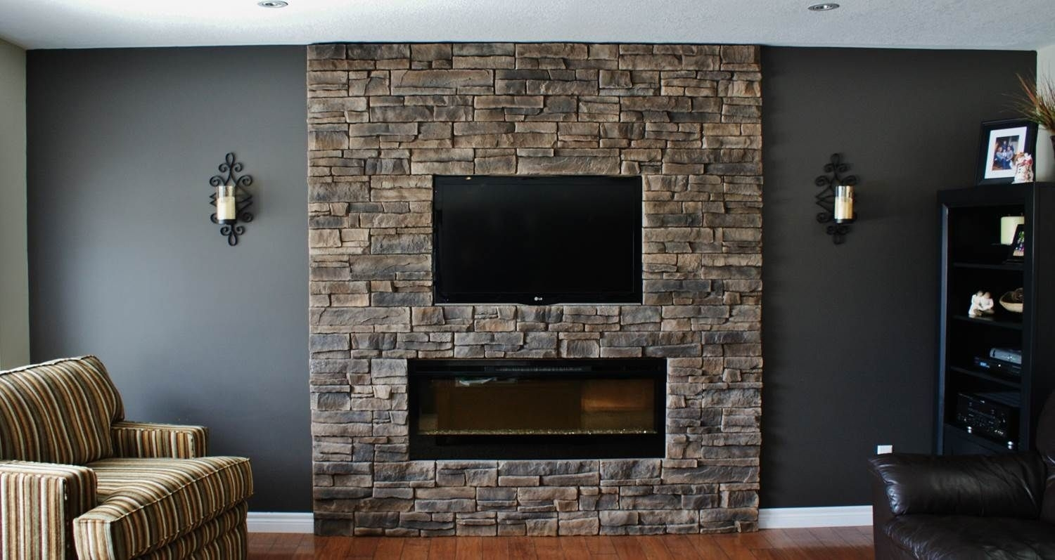 Fireplace Walls With Seating | This Client Had The Fireplace With Newest Fireplace Wall Accents (Gallery 4 of 15)