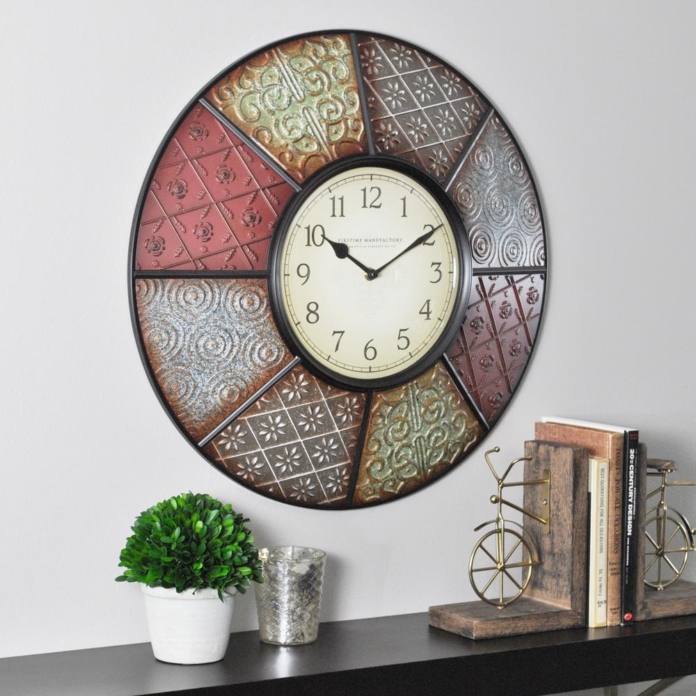 Firstime – Wall Clocks – Wall Decor – The Home Depot Inside Best And Newest Clock Wall Accents (View 10 of 15)