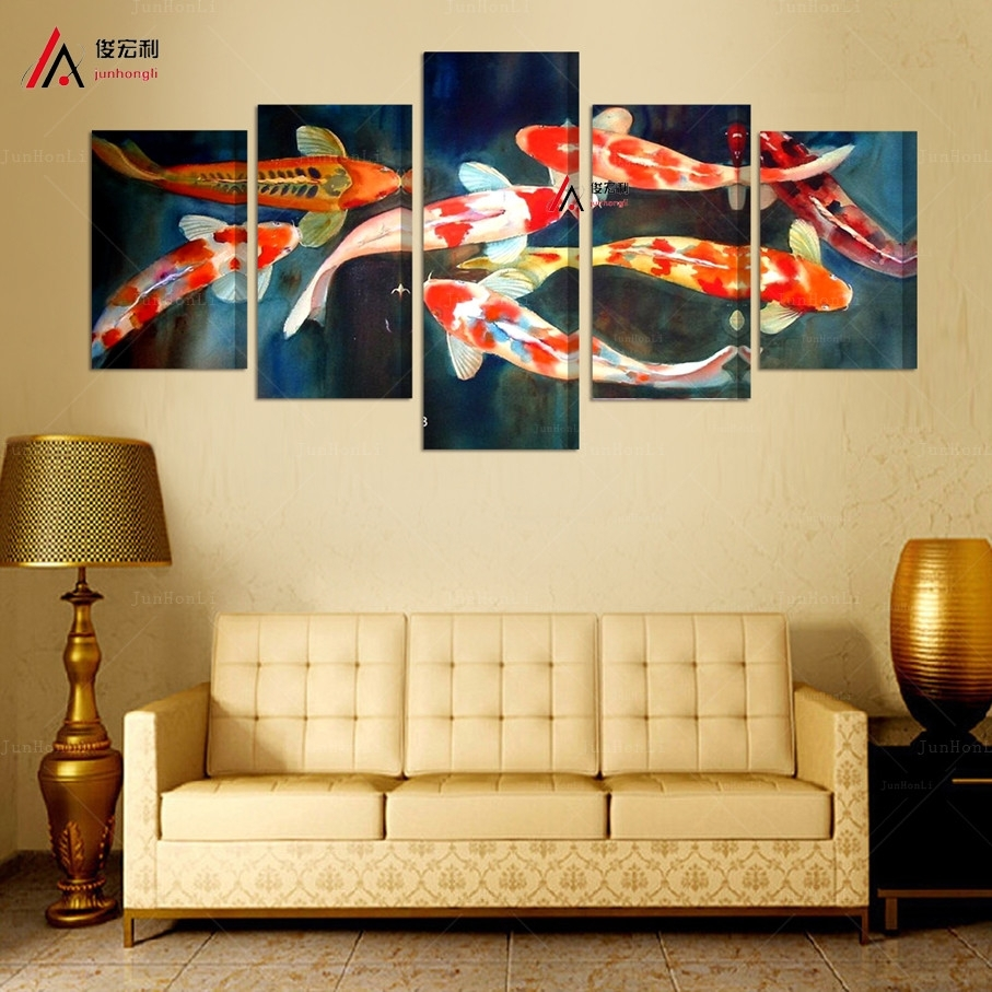 Featured Photo of Koi Canvas Wall Art
