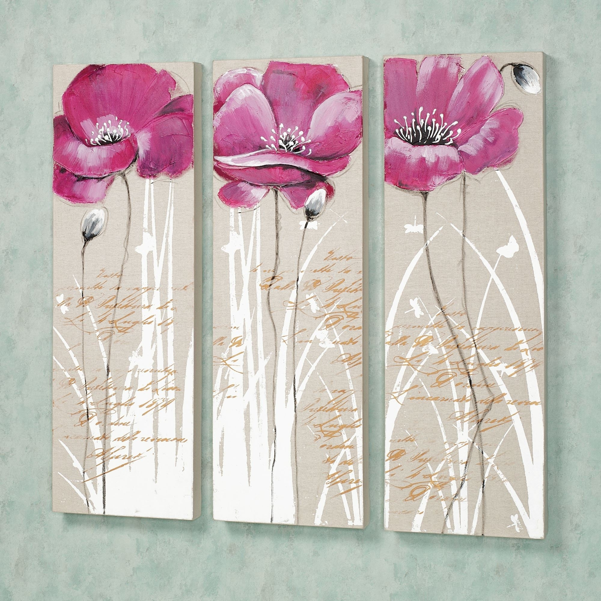 Floral And Botanical Canvas Wall Art | Touch Of Class Within Most Recently Released Pink Canvas Wall Art (View 13 of 15)