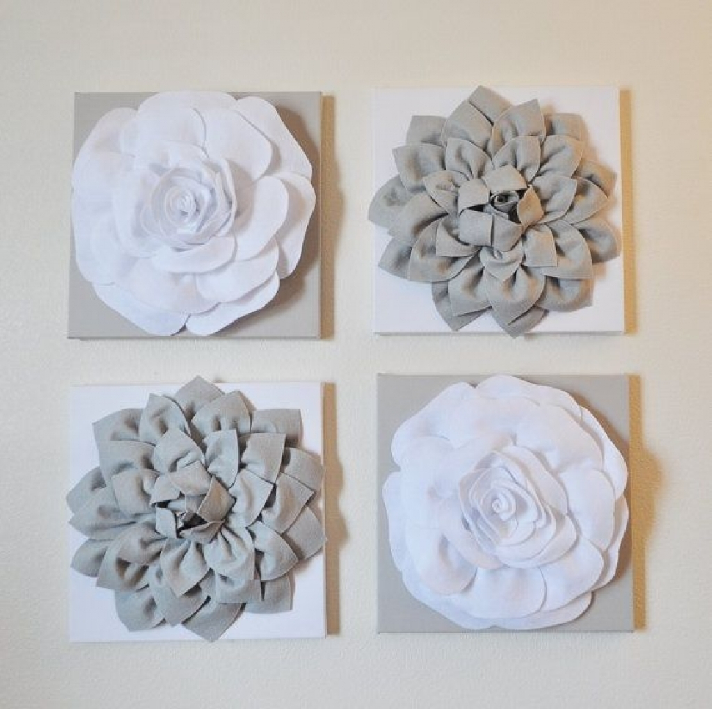 Flower Wall Art Decor 3D Wall Decor Emily Fields And Flower On Intended For Current Fabric Flower Wall Art (View 8 of 15)
