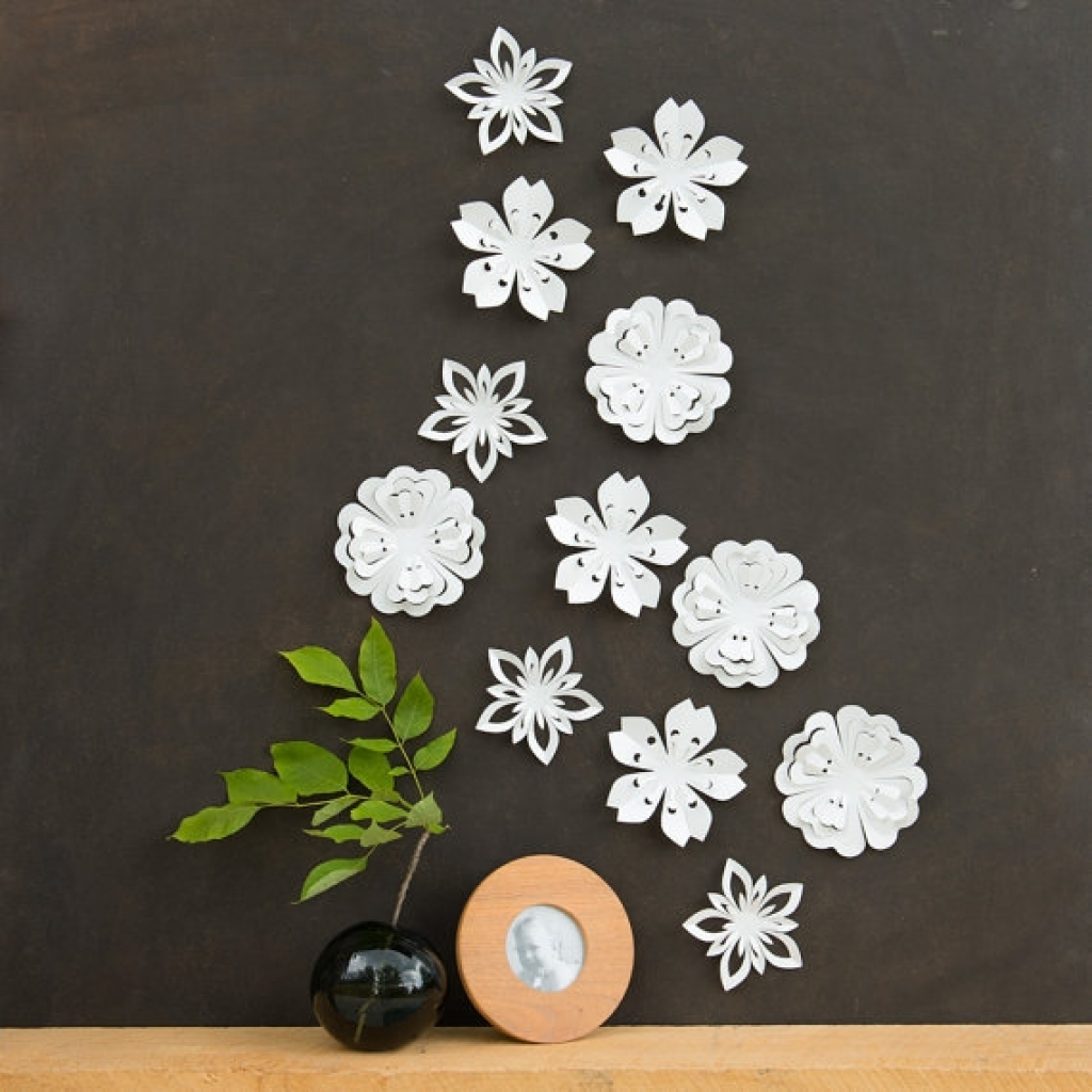 Flower Wall Art Decor 3d Wall Decor Emily Fields And Flower On Regarding Current Flowers Wall Accents (View 12 of 15)