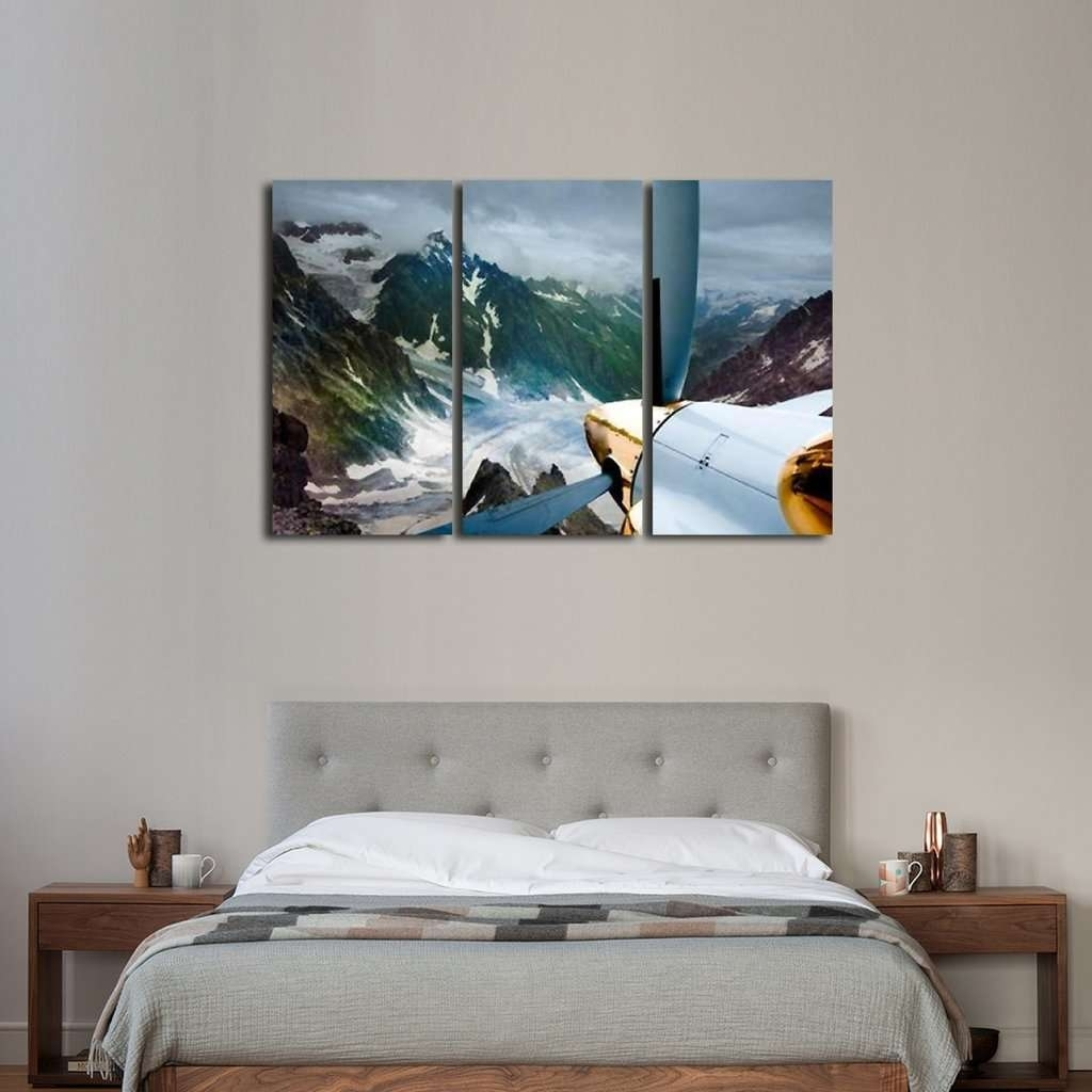 Flying In The Mountains Wall Art Multi Panel Canvas – Mighty Paintings In Current Mountains Canvas Wall Art (View 12 of 15)