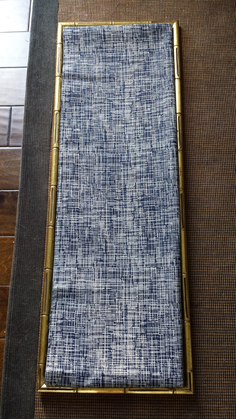 Focal Point Styling: Diy Indigo Wall Art With Framed Fabric For Best And Newest Diy Fabric Panel Wall Art (View 6 of 15)