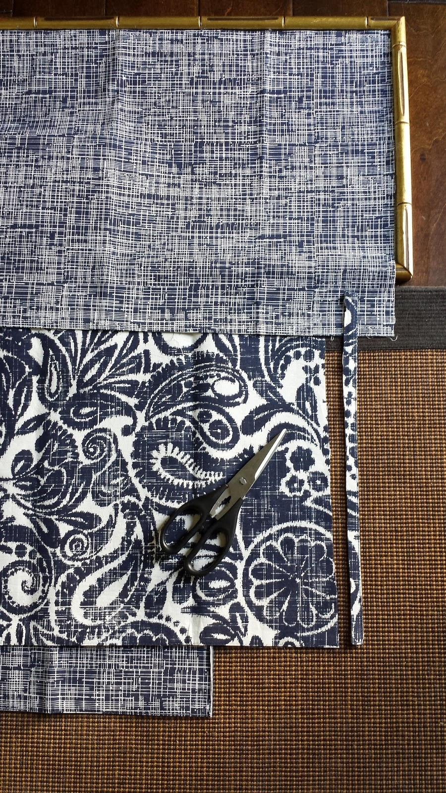 Focal Point Styling: Diy Indigo Wall Art With Framed Fabric Regarding 2017 Diy Framed Fabric Wall Art (View 8 of 15)