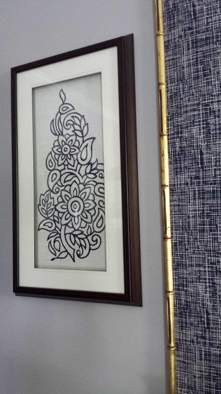 Focal Point Styling: Diy Indigo Wall Art With Framed Fabric Throughout Best And Newest Wall Art Fabric Prints (View 5 of 15)