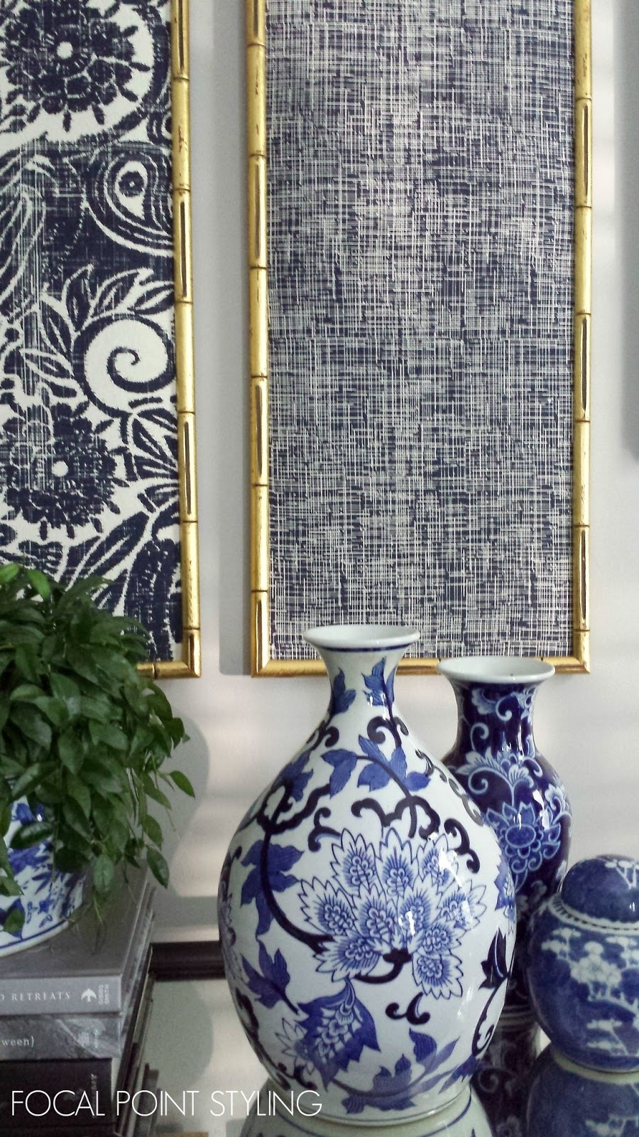 Focal Point Styling: Diy Indigo Wall Art With Framed Fabric Within Best And Newest Blue Fabric Wall Art (View 7 of 15)