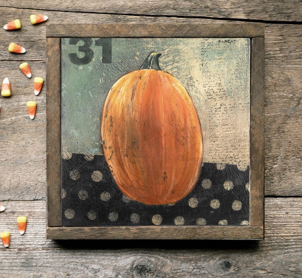 Folk Art Pumpkin | Artwork, Prints, Home Decor, Gift Ideas with Best and Newest Framed Folk Art Prints