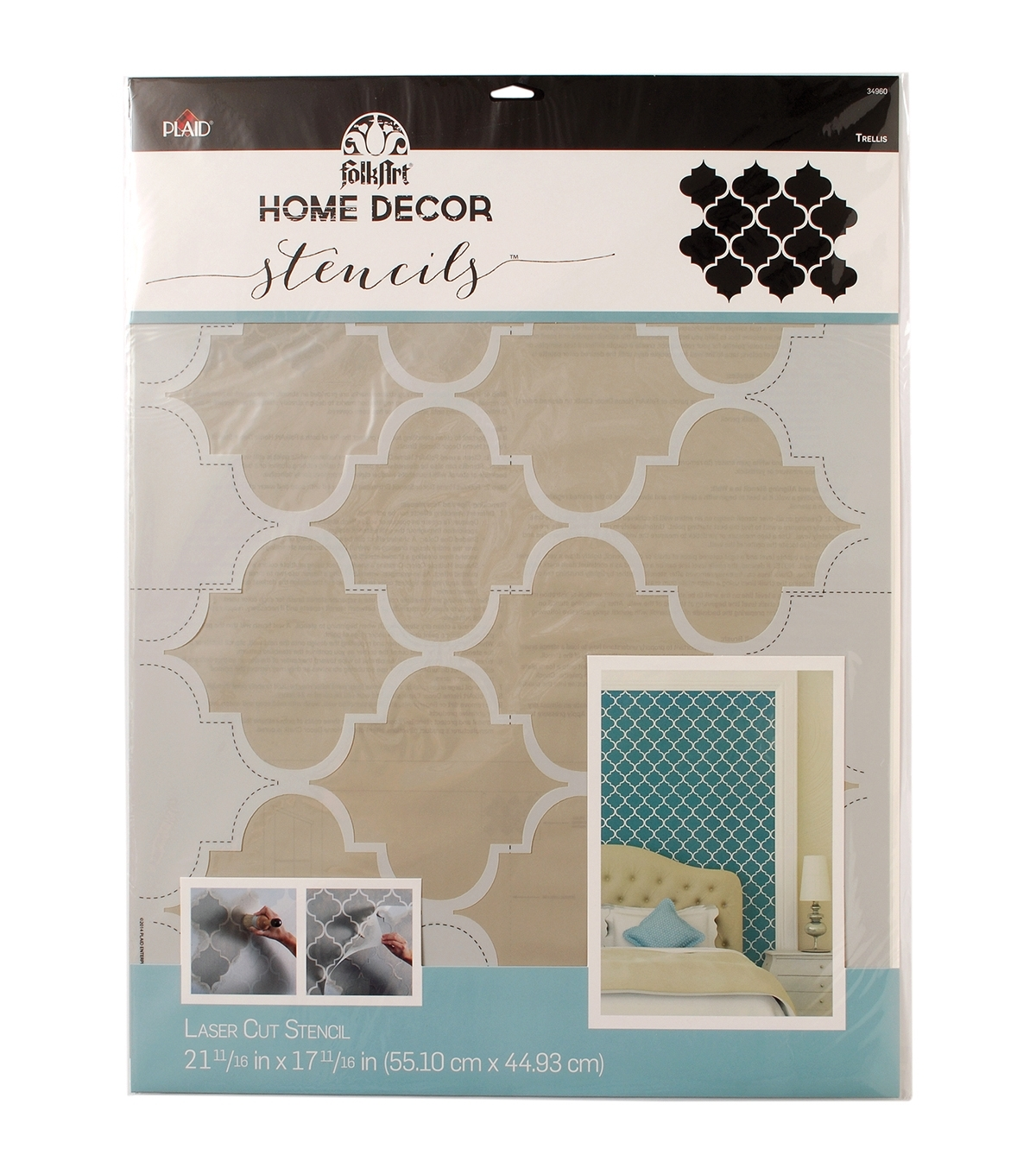 Folkart Home Decor Wall Stencil Trellis | Joann Regarding Newest Joann Fabric Wall Art (Gallery 5 of 15)