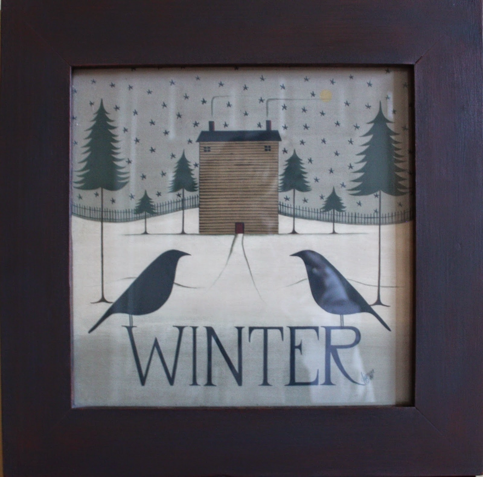 Four Seasons Folk Art (Sold) Pertaining To Most Popular Framed Folk Art Prints (View 7 of 15)