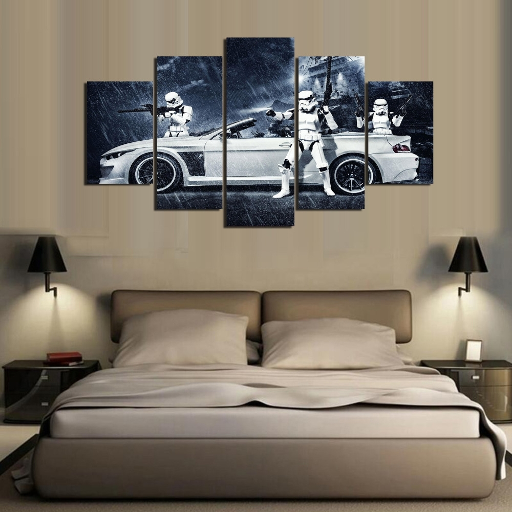 Framed) 5 Pieces Star Wars Assault Vehicle Bmw Modern Home Wall For Best And Newest Bmw Canvas Wall Art (View 4 of 15)