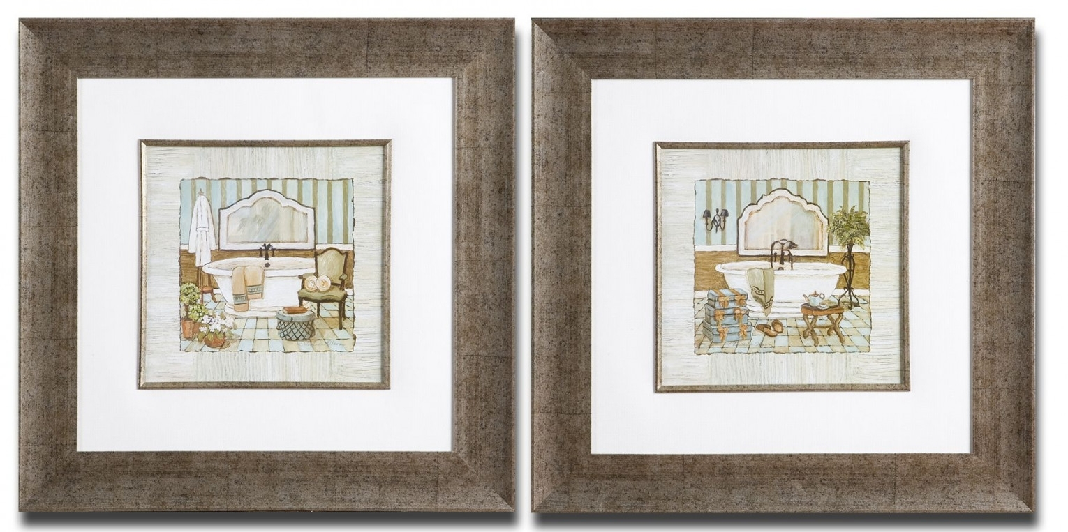 Framed Art For Bathroom, French Bathroom Prints Vintage | Home Within Latest Framed Art Prints For Bathroom (View 10 of 15)