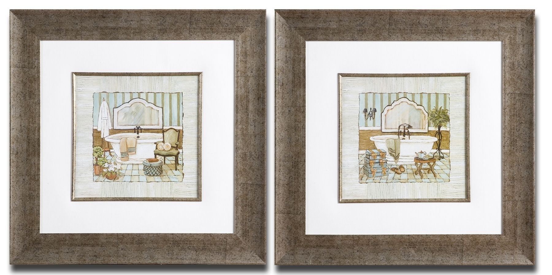 Framed Art For Bathroom, French Bathroom Prints Vintage Within Most Up To Date Framed Country Art Prints (View 11 of 15)